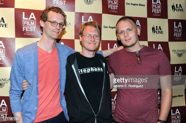 Benjamin Balcom Chad Freidrichs and Paul Fehler attend the 'The PruittIgoe Myth' Q A during the 2011 Los Angeles Film Festival at Regal Cinemas LA...