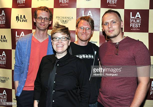 Benjamin Balcom Program Manager Jenn Wilson Chad Freidrichs and Paul Fehler attend the 'The PruittIgoe Myth' Q A during the 2011 Los Angeles Film...