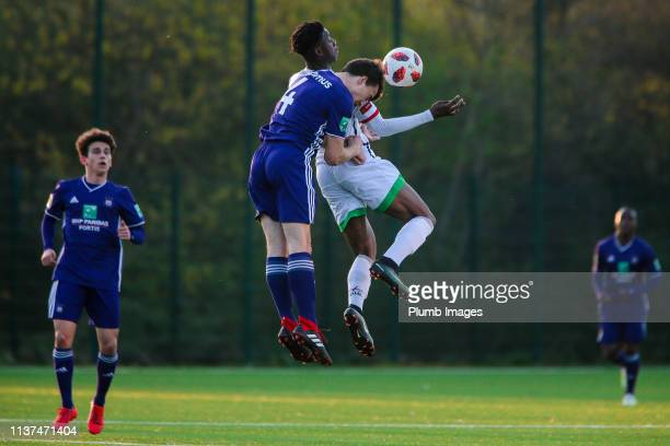 Benjamin Bambi N'Zanga of OH Leuven during the Reserve Pro League Cup match between OH Leuven Beloften and RSC Anderlecht Reserve at the Neerpede...