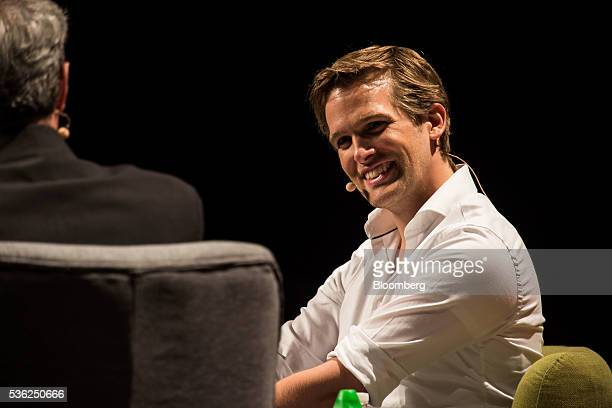 Benjamin Bauer cofounder of FoodPanda speaks during the Rise conference in Hong Kong China on Wednesday June 1 2016 The conference runs through June...