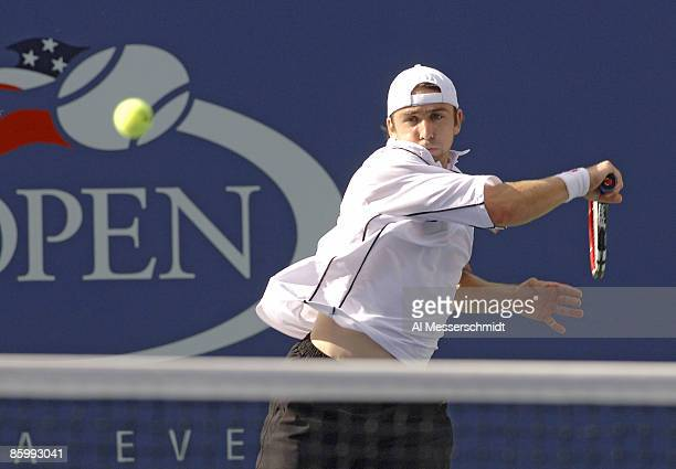 Benjamin Becker during his fourth round match against Andy Roddick at the 2006 US Open at the USTA Billie Jean King National Tennis Center in...