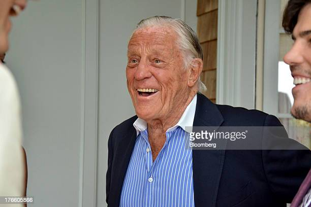 Benjamin 'Ben' Bradlee former executive editor of the Washington Post attends a gathering for the upcoming 'Yoga The Art of Transformation'...