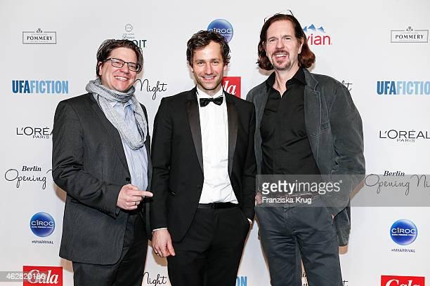 Benjamin Benedict Florian Stetter and Stefan Kolditz attend the 'Berlin Opening Night Of Gala Ufa Fiction on February 05 2015 in Berlin Germany