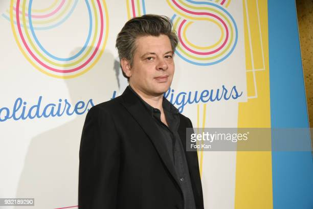 Benjamin Biolay attends 'La Ligue Contre Le Cancer' Celebrates Its 100th Anniversary at Cite des Sciences on March 14 2018 in Paris France