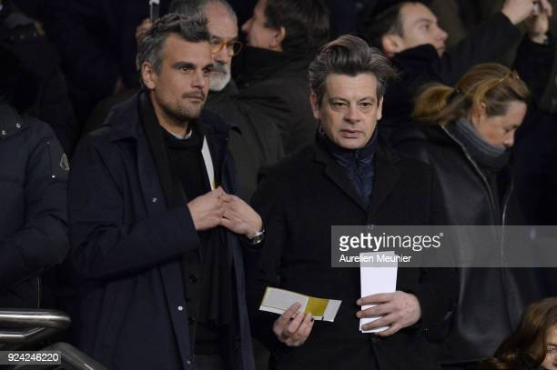 Benjamin Biolay attends the Ligue 1 match between Paris Saint Germain and Olympique Marseille February 25 2018 in Paris France