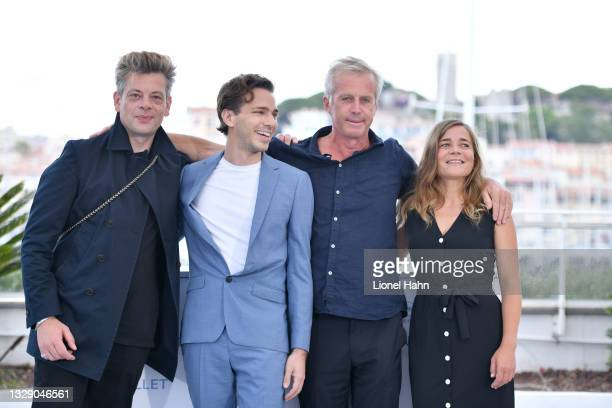 """Benjamin Biolay, Emanuele Arioli, Bruno Dumont, Blanche Gardin attend the """"France"""" photocall during the 74th annual Cannes Film Festival on July 16,..."""