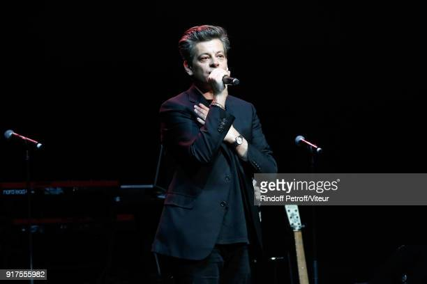 Benjamin Biolay performs during the Charity Gala against Alzheimer's disease at Salle Pleyel on February 12 2018 in Paris France