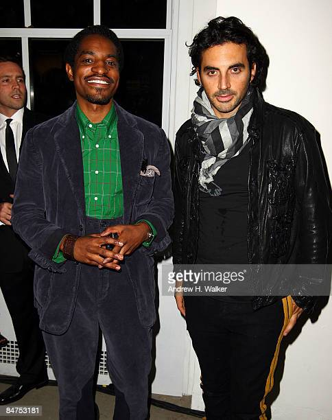 Benjamin Bixby designer Andre Benjamin and designer Yigal Azrouel attend the GQ CFDA 2009 'Best New Menswear Designers' Party at Eres boutique on...