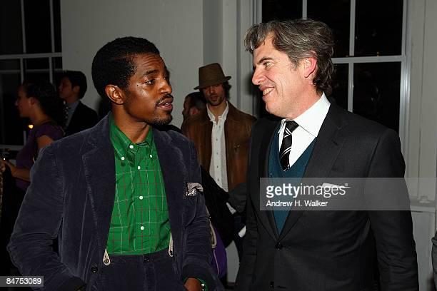 Benjamin Bixby designer Andre Benjamin and GQ Publisher Peter Hunsinger attend the GQ CFDA 2009 'Best New Menswear Designers' Party at Eres boutique...