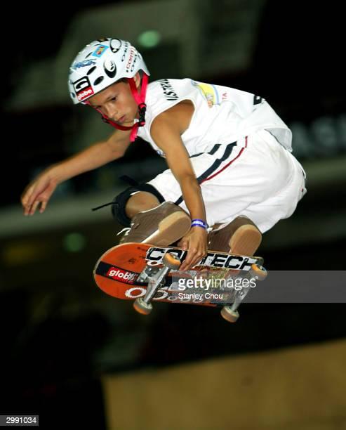 Benjamin Bodnar of Australia in action during the JuniorX Skateboard Park final at the Asian XGames finals held at the Bukit Jalil Indoor Stadium on...