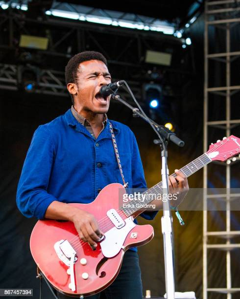 Benjamin Booker performs during the 2017 Voodoo Music Arts Experience at City Park on October 27 2017 in New Orleans Louisiana