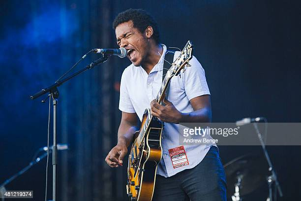 Benjamin Booker performs on the Main Stage at Latitude Festival on July 18 2015 in Southwold United Kingdom