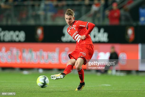 Benjamin Bourigeaud of Rennes during the Ligue 1 match between Stade Rennais and SM Caen at Roazhon Park on September 30 2017 in Rennes