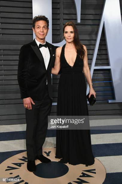 Benjamin Bratt and Talisa Soto attend the 2018 Vanity Fair Oscar Party hosted by Radhika Jones at Wallis Annenberg Center for the Performing Arts on...
