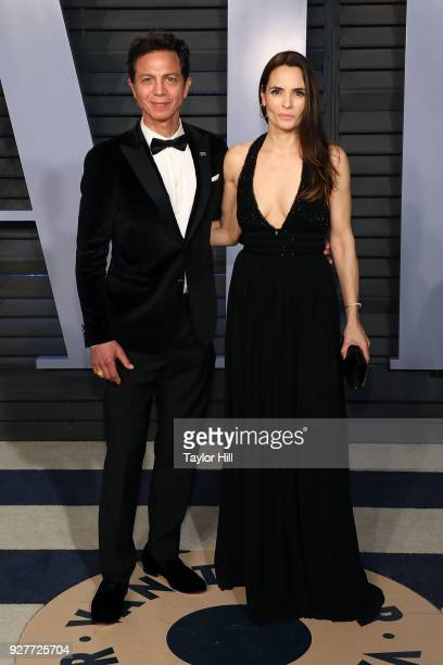 Benjamin Bratt and Talisa Soto attend the 2018 Vanity Fair Oscar Party hosted by Radhika Jones at the Wallis Annenberg Center for the Performing Arts...