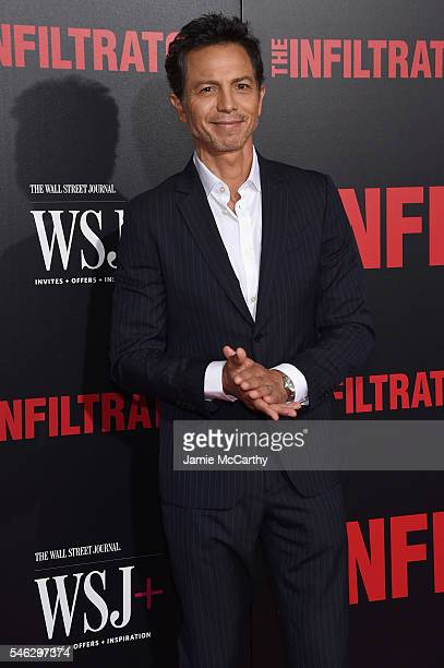 Benjamin Bratt attends the 'The Infiltrator' New York premiere at AMC Loews Lincoln Square 13 theater on July 11 2016 in New York City