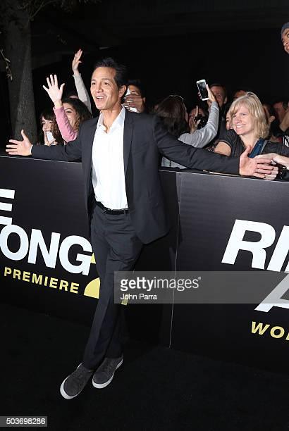Benjamin Bratt attends World Premiere Of 'Ride Along 2' at Regal South Beach Cinema on January 6 2016 in Miami Beach Florida