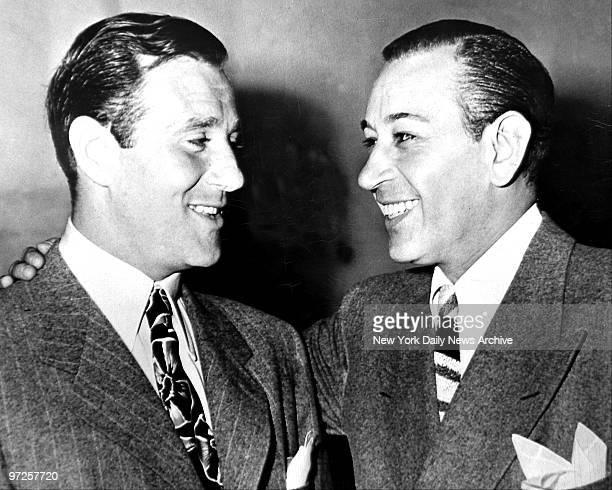 Benjamin Bugsy Siegel talks to George Raft