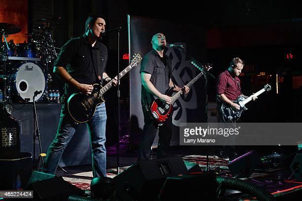 Benjamin Burnley Aaron Bruch and Jasen Rauch of Breaking Benjamin perform at Revolution on August 25 2015 in Fort Lauderdale Florida