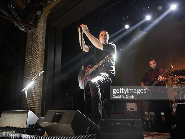 Benjamin Burnley of Breaking Benjamin performs at Iron City on April 26 2016 in Birmingham Alabama