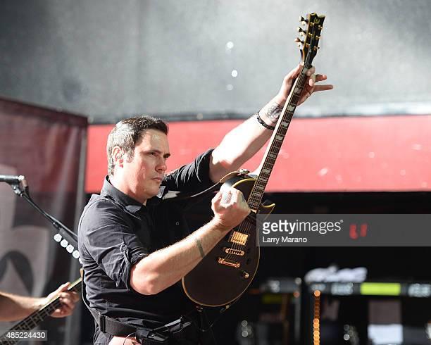 Benjamin Burnley of Breaking Benjamin performs at Revolution on August 25 2015 in Fort Lauderdale Florida