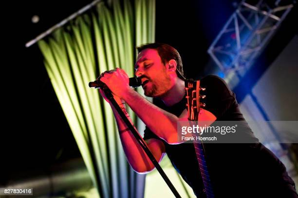 Benjamin Burnley of the American band Breaking Benjamin performs live on stage during a concert at the Huxleys on August 8 2017 in Berlin Germany