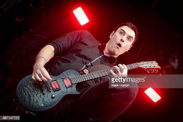 Benjamin Burnley performs with Breaking Benjamin on Day 2 of the Heavy Montreal Festival at Parc JeanDrapeau on August 7 2016 in Montreal Canada