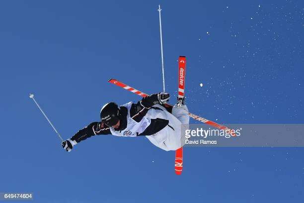 Benjamin Cavet of France competes in the Men's Moguls qualification on day one of the FIS Freestyle Ski Snowboard World Championships 2017 on March 8...