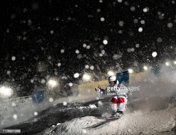 Benjamin Cavet of France during the eight final of the Men's Dual Moguls Final of the FIS Freestyle Ski World Championships on February 9 2019 at...