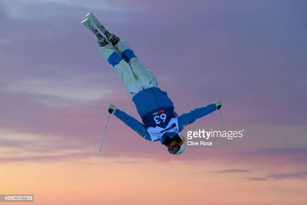 Benjamin Cavet of France participates in a training session at the FIS Freestyle Ski World Cup Ruka on December 13 2013 in Kuusamo Finland