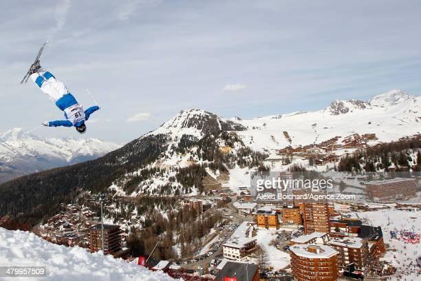 Benjamin Cavet of France takes 3rd place during the FIS Freestyle Ski World Cup Men's and Women's Dual Moguls on March 21 2014 in La Plagne France
