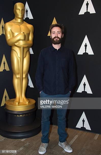 """Benjamin Cleary nominated for Short Film """"Stutterer"""" attends the Oscar Week: Shorts evening, in Beverly Hills, California, on February 23, 2016. /..."""