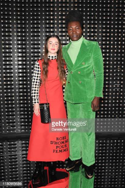 Benjamin Clementine and Florence Clementine attend the Gucci show during Milan Fashion Week Autumn/Winter 2019/20 on February 20 2019 in Milan Italy
