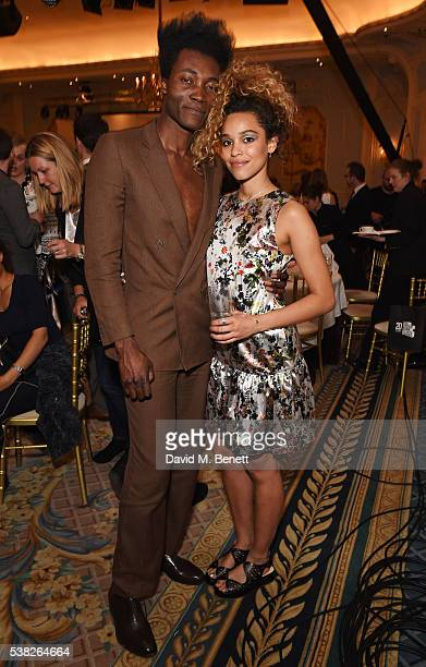 Benjamin Clementine and Izzy Bizu attend the South Bank Sky Arts Awards airing on Wednesday 8th June on Sky Arts at The Savoy Hotel on June 5 2016 in...