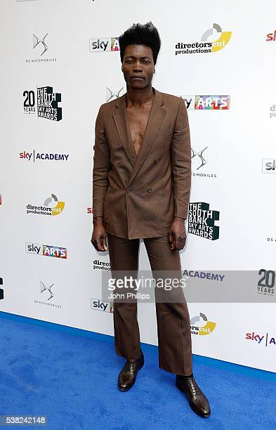 Benjamin Clementine arrives for the The South Bank Sky Arts Awards at The Savoy Hotel on June 5 2016 in London England