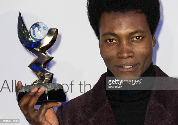 Benjamin Clementine as announced winner of the Mercury Music Prize for his album At Least for Now at BBC Broadcasting House on November 20 2015 in...