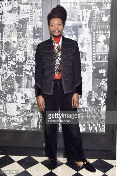 Benjamin Clementine attends NETAPORTER and MR PORTER partner with Letters Live on February 26 2018 in Los Angeles California