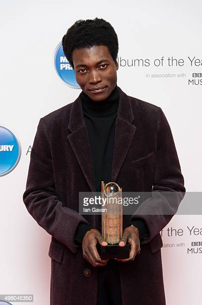 Benjamin Clementine attends the Mercury Music Prize at BBC Broadcasting House on November 20 2015 in London England