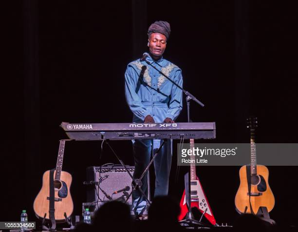 Benjamin Clementine performs at The O2 Arena on October 29 2018 in London England
