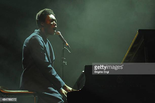 Benjamin Clementine performs on stage at Queen Elizabeth Hall on August 21 2015 in London England