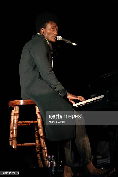 Benjamin Clementine performs on stage at The Emmanuel Centre on October 29 2014 in London United Kingdom