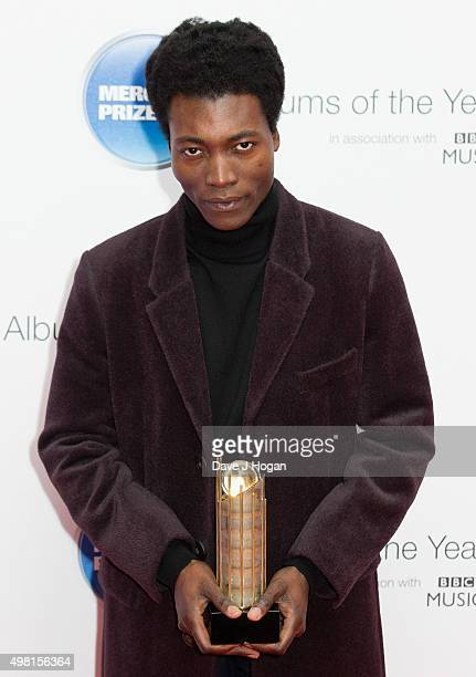 Benjamin Clementine winner of the 2015 Mercury Prize at BBC Radio Theatre on November 20 2015 in London England