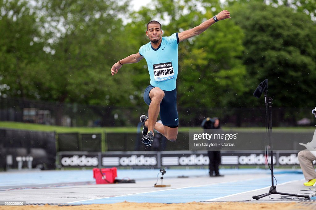 Benjamin Compaore, France, winning the Men's Triple Jump event at the  Diamond League Adidas