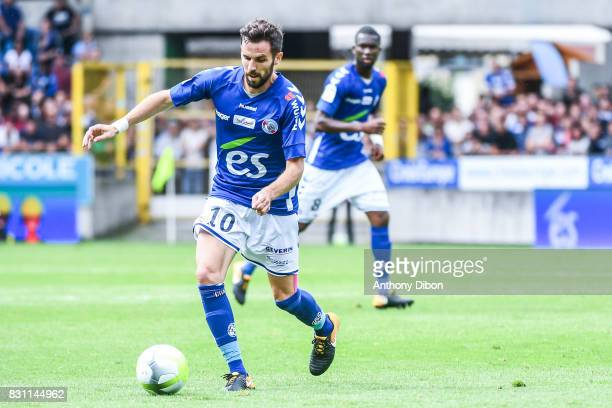 Benjamin Corgnet of Lille during the Ligue 1 match between Racing Club Strasbourg and Lille OSC at Stade de la Meinau on August 13 2017 in Strasbourg