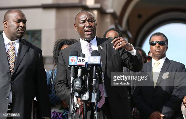 Benjamin Crump an attorney for the Corey Jones' family speaks to the media during a press conference to address the shooting of Mr Jones on October...