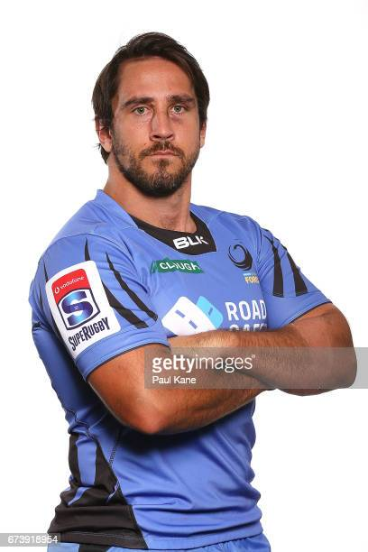 Benjamin Daley poses during a Western Force Super Rugby headshots session at the Rugby WA office on April 27 2017 in Perth Australia