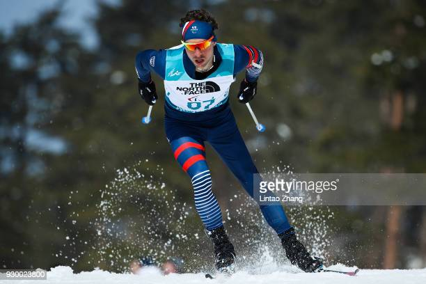 Benjamin Daviet of France competes in the Men's 75 KM Biathlon event at Alpensia Biathlon Centre during day one of the PyeongChang 2018 Paralympic...