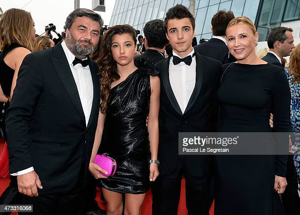 Benjamin Dessange and family attend Premiere of Mad Max Fury Road during the 68th annual Cannes Film Festival on May 14 2015 in Cannes France