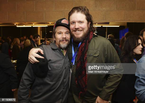 Benjamin Dickey with Ethan Hawke backstage after Benjamin accepted the Special Jury Award for Achievement in Acting during the Sundance Film Festival...