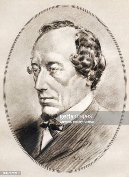 Benjamin Disraeli 1st Earl of Beaconsfield 1804 1881 British statesman of the Conservative Party and two times Prime Minister of the United Kingdom...